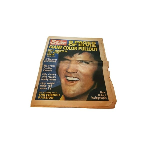 Vintage Sept 1977 Elvis Presley Color Poster